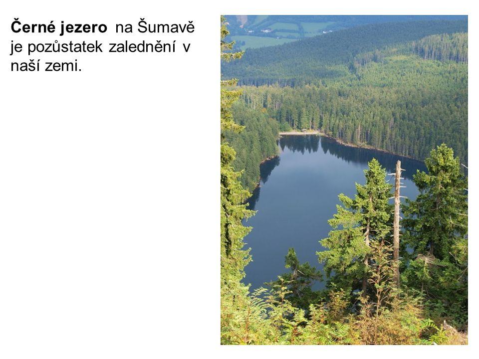 Černé jezero na Šumavě je pozůstatek zalednění v naší zemi.
