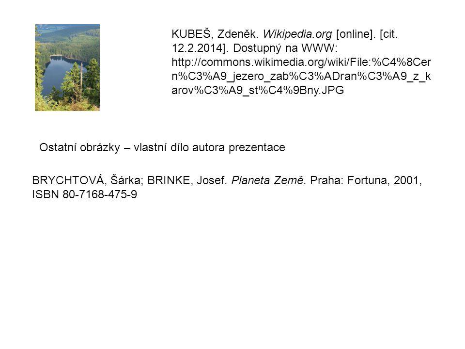 KUBEŠ, Zdeněk. Wikipedia.org [online]. [cit. 12.2.2014].