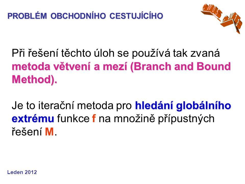 metoda větvení a mezí (Branch and Bound Method).