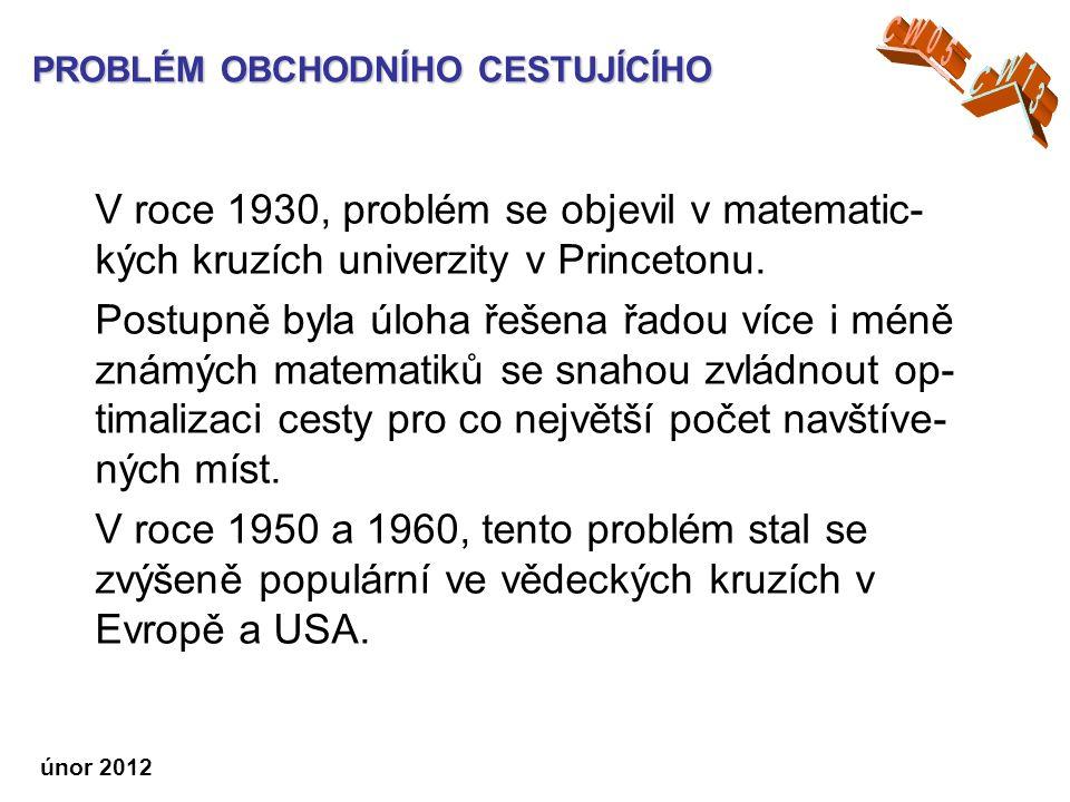 V roce 1930, problém se objevil v matematic- kých kruzích univerzity v Princetonu.