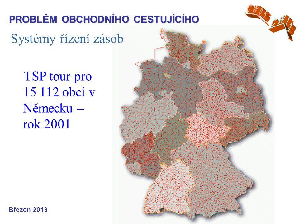 Systémy řízení zásob Březen 2013 TSP tour pro 15 112 obcí v Německu – rok 2001 PROBLÉM OBCHODNÍHO CESTUJÍCÍHO