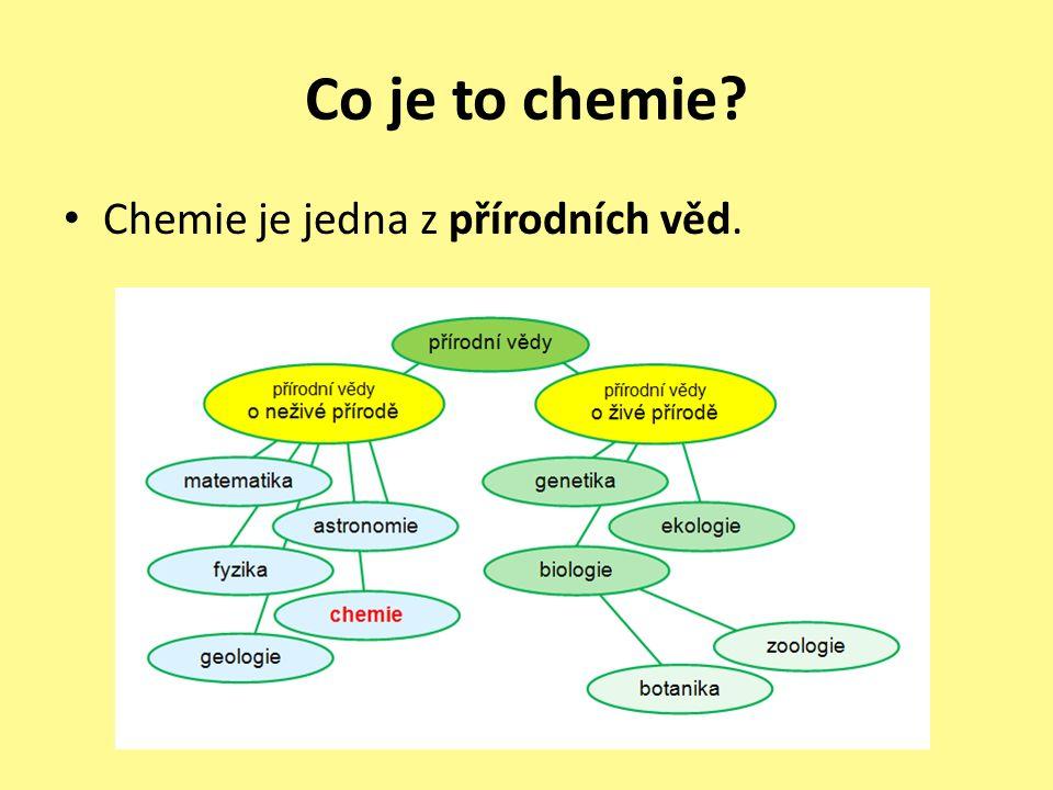 Co je to chemie Chemie je jedna z přírodních věd.