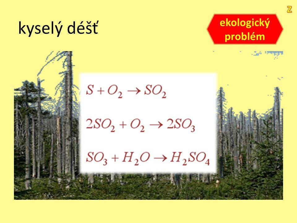kyselý déšť ekologický problém