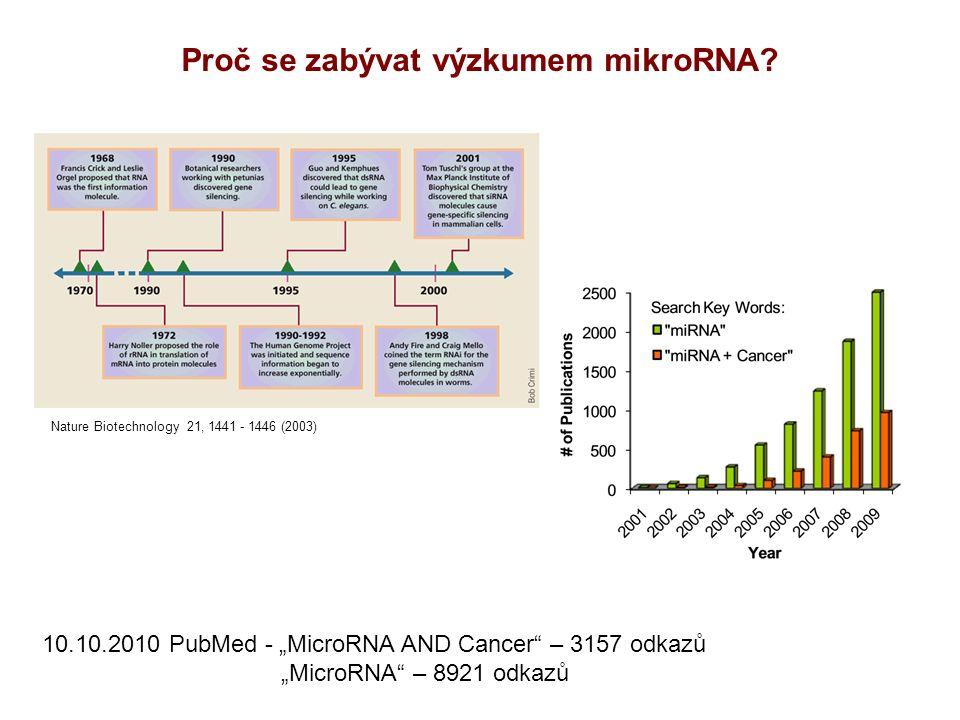 Proč se zabývat výzkumem mikroRNA.