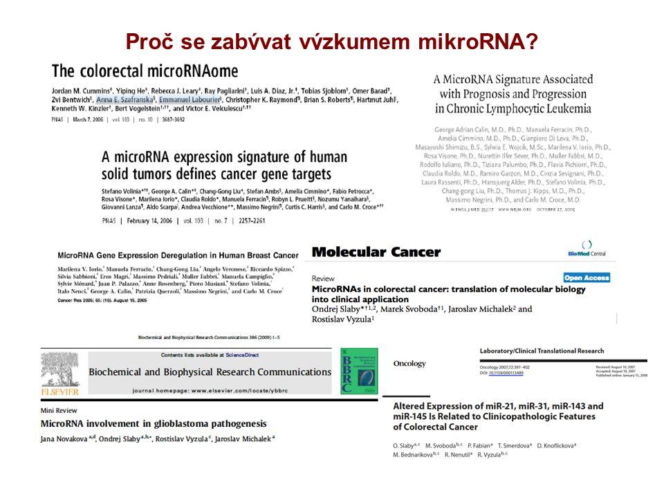 Proč se zabývat výzkumem mikroRNA?