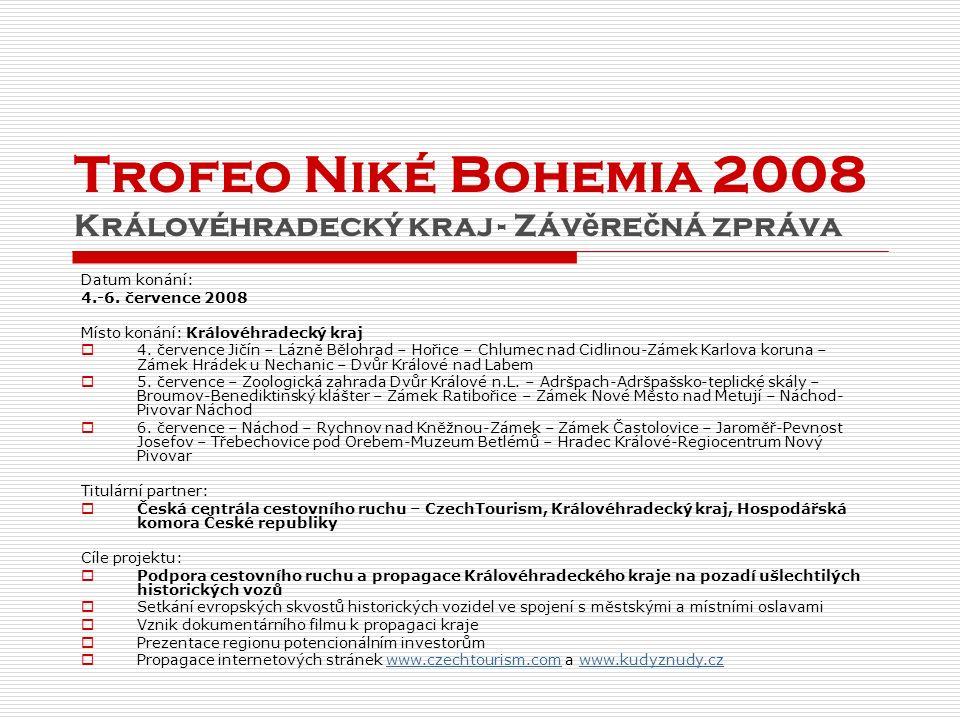 Trofeo Niké Bohemia 2008 Královéhradecký kraj - Záv ě re č ná zpráva Datum konání: 4.-6.