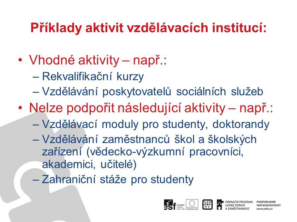 Informace pro žadatele a příjemce: http://www.esfcr.cz/07-13/oplzz/oblast-podpory-5-1-mezinarodni-spoluprace