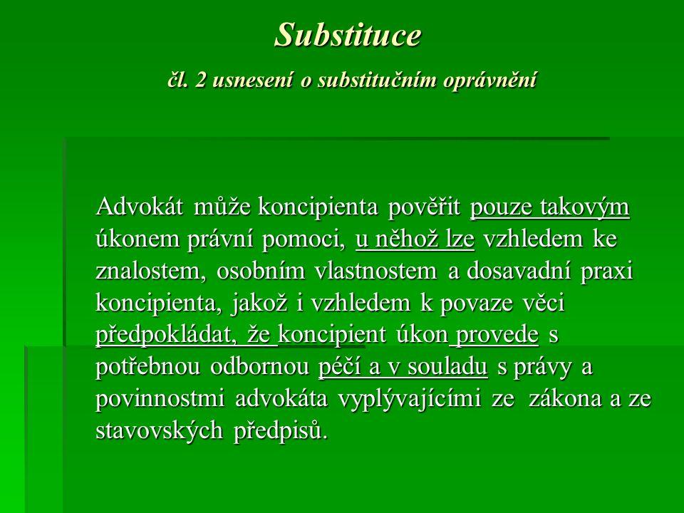 Substituce čl.