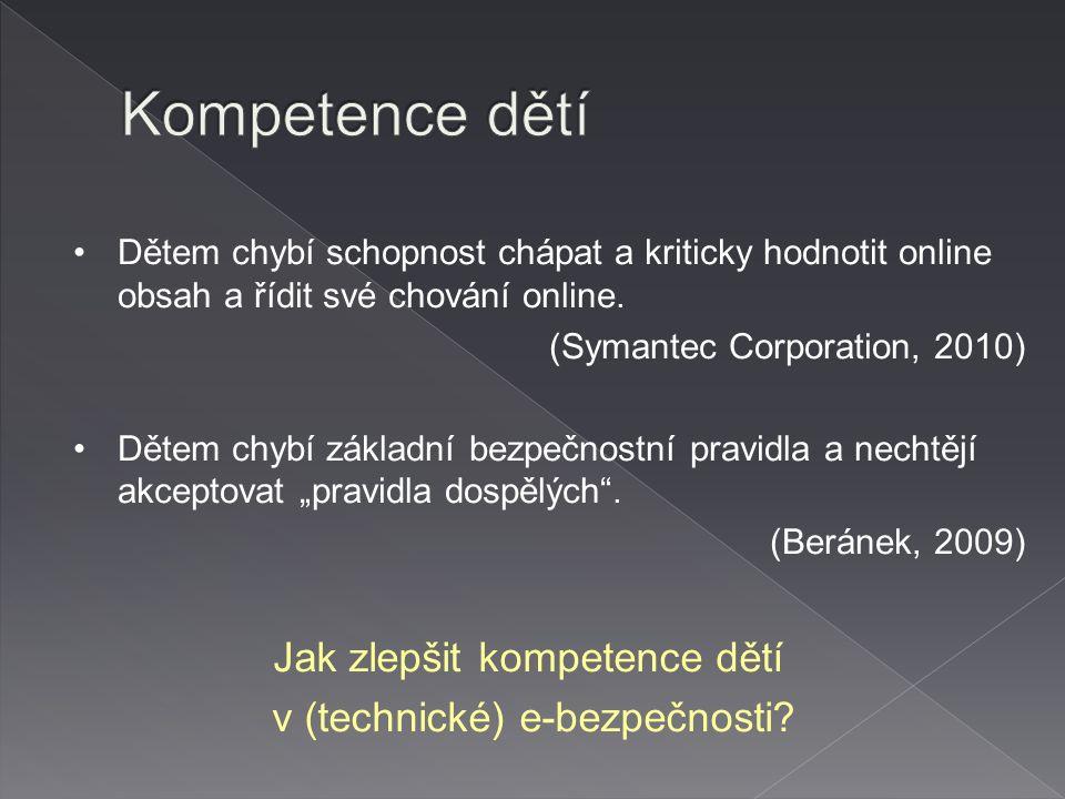 Jak zlepšit kompetence dětí v (technické) e-bezpečnosti.
