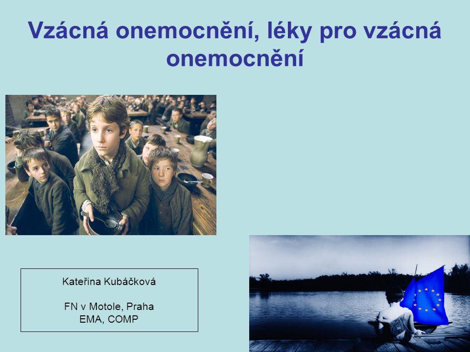 Vzácná onemocnění, léky pro vzácná onemocnění Kateřina Kubáčková FN v Motole, Praha EMA, COMP