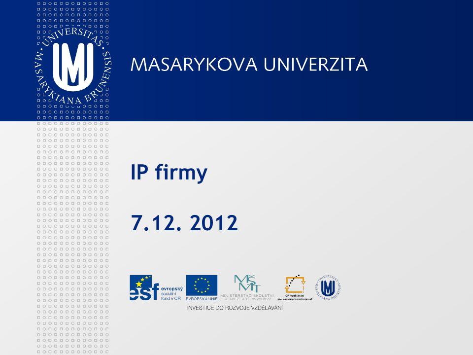 IP firmy 7.12. 2012