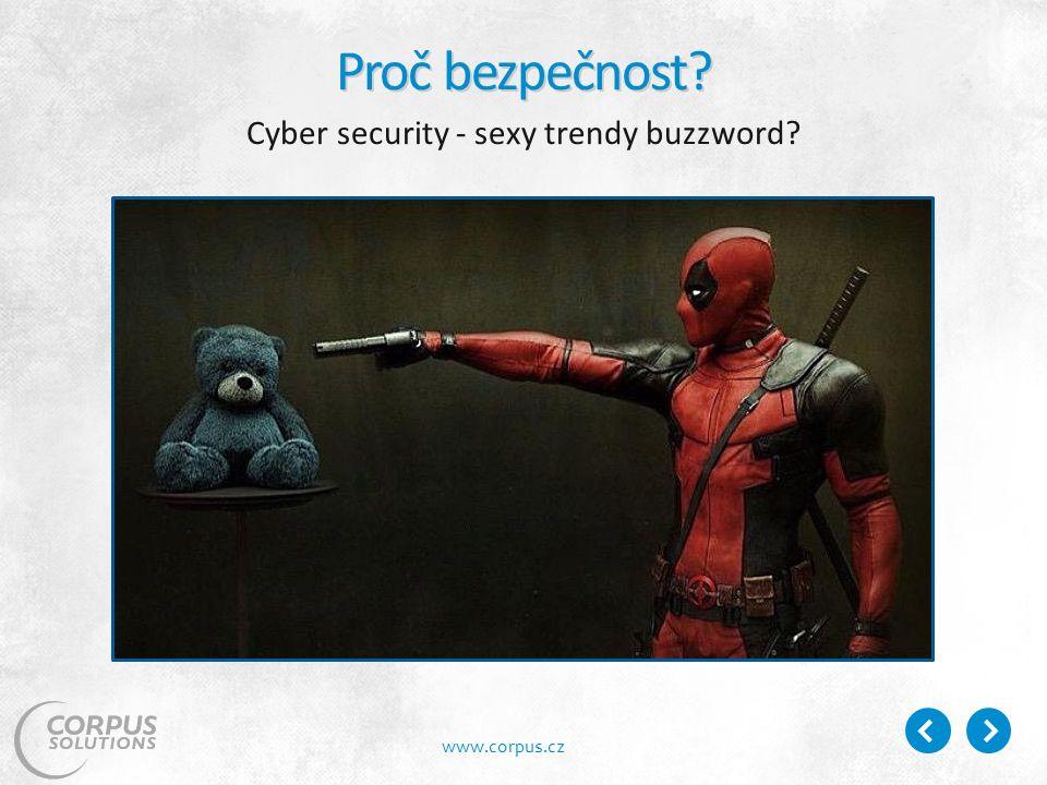 www.corpus.cz Proč bezpečnost Cyber security - sexy trendy buzzword