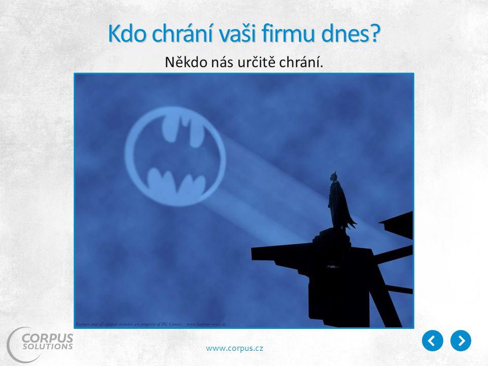 www.corpus.cz Kdo chrání vaši firmu dnes Někdo nás určitě chrání.