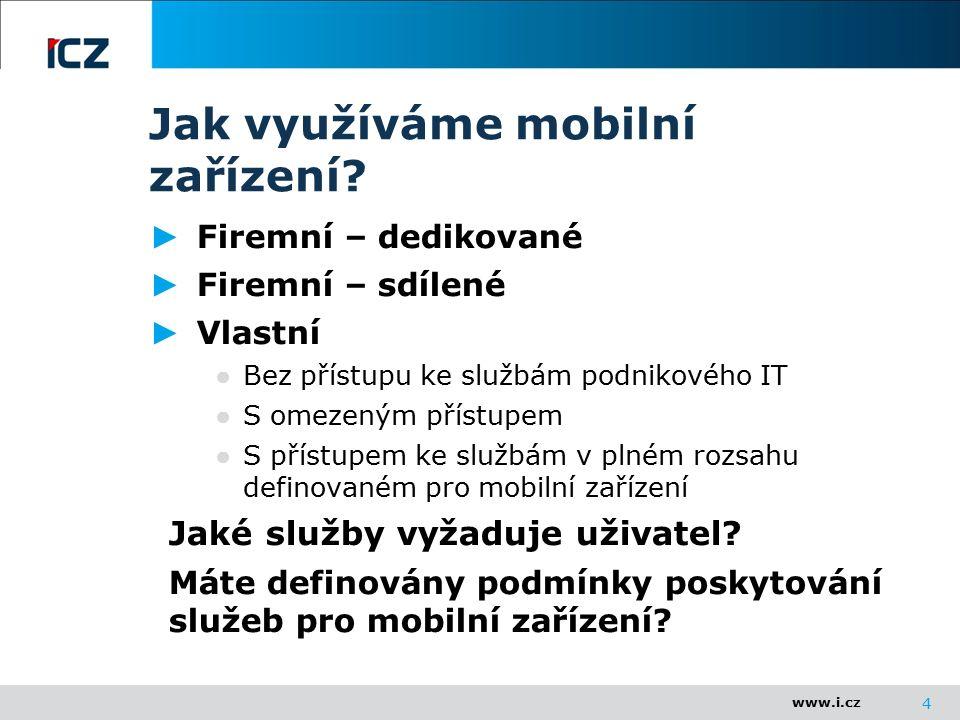 www.i.cz Jak využíváme mobilní zařízení.