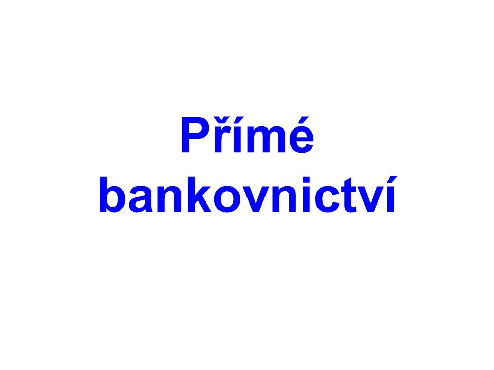 Homebanking  komunikace s bankou probíhá pomocí počítače připojeného k internetu a speciálního programu dodaného bankou  využíván převážně firmami, soukromí uživatelé raději volí internetbanking