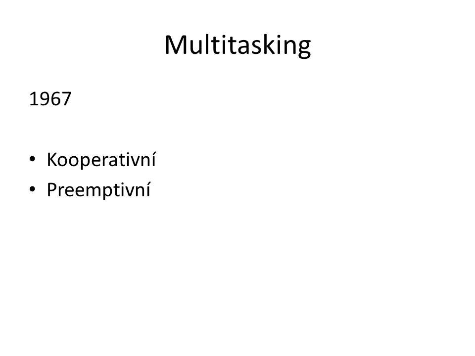 Multitasking 1967 Kooperativní Preemptivní