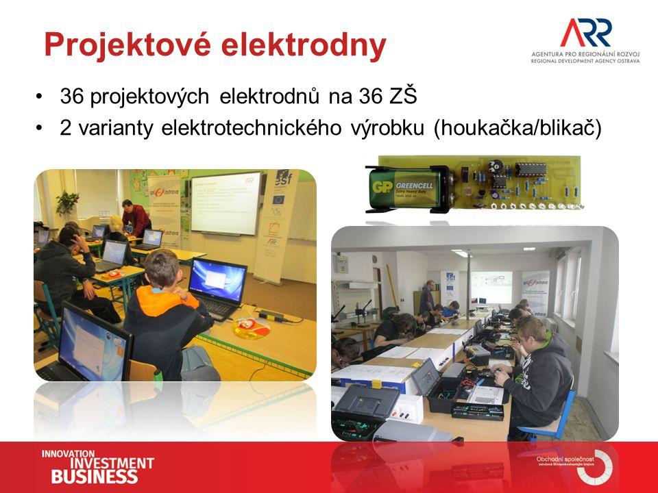 Projektové elektrodny 36 projektových elektrodnů na 36 ZŠ 2 varianty elektrotechnického výrobku (houkačka/blikač)