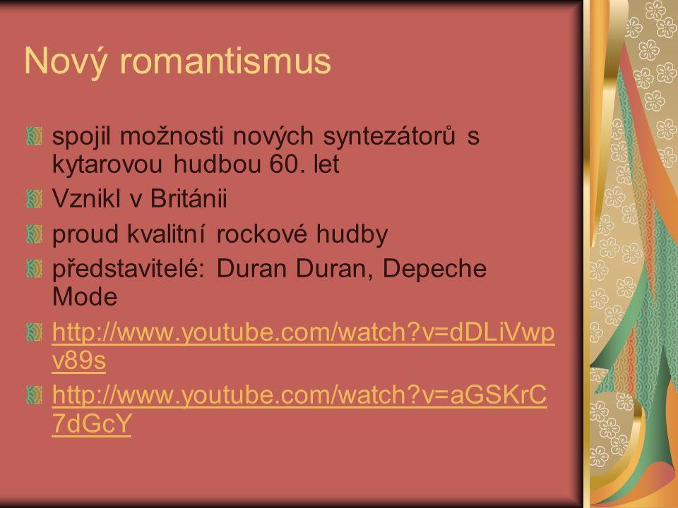 Nový romantismus spojil možnosti nových syntezátorů s kytarovou hudbou 60.