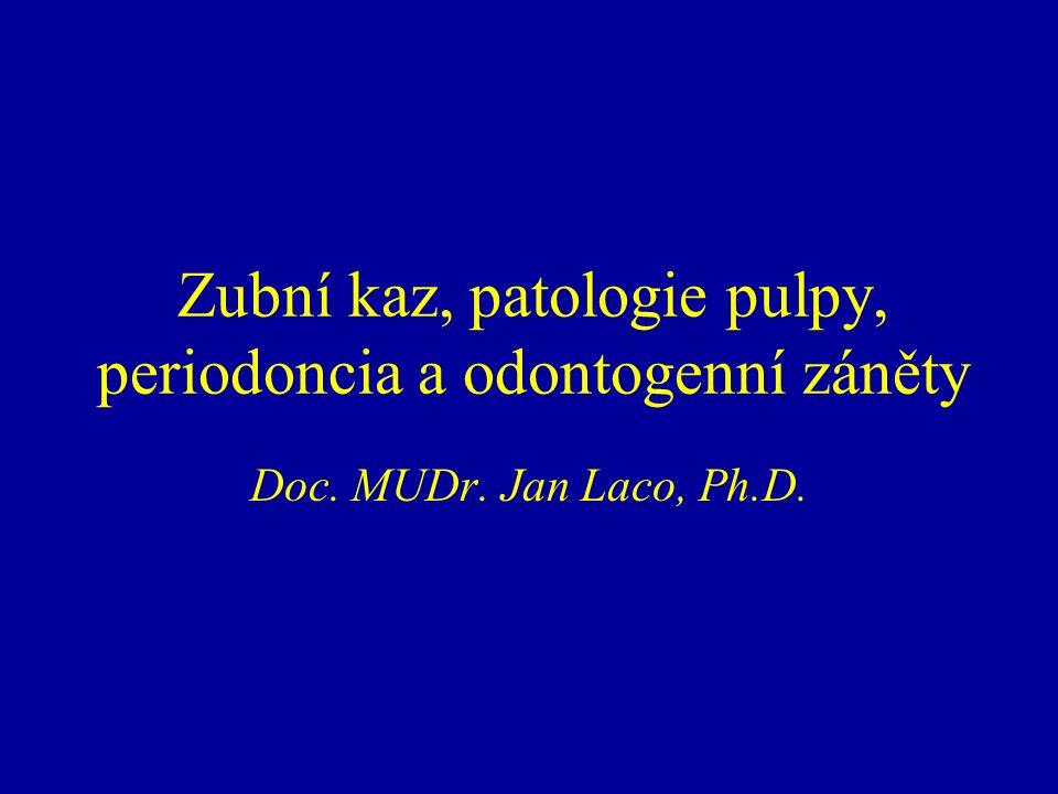 Zubní kaz, patologie pulpy, periodoncia a odontogenní záněty Doc. MUDr. Jan Laco, Ph.D.
