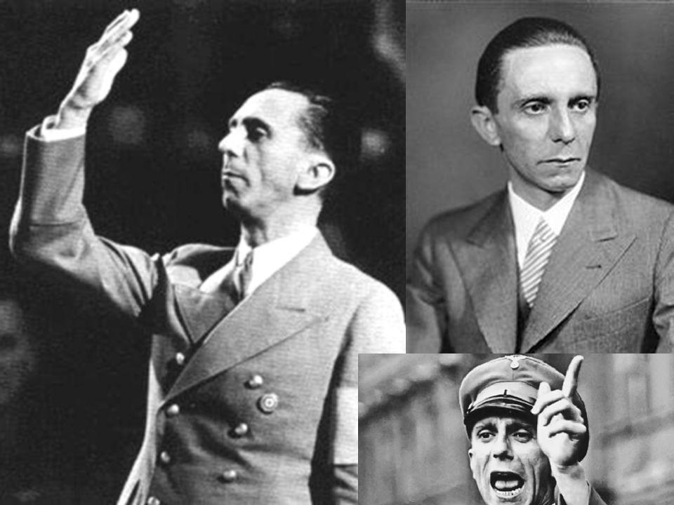 byl jeden z nejvyšších nacistických p ř edstavitel ů a vále č ný zlo č inec byl ř íšským ministrem propagandy, zmocn ě nec pro vedení totální války, ř íšský velitel domobrany a jeden z nejbližších spolupracovník ů Adolfa Hitlera.