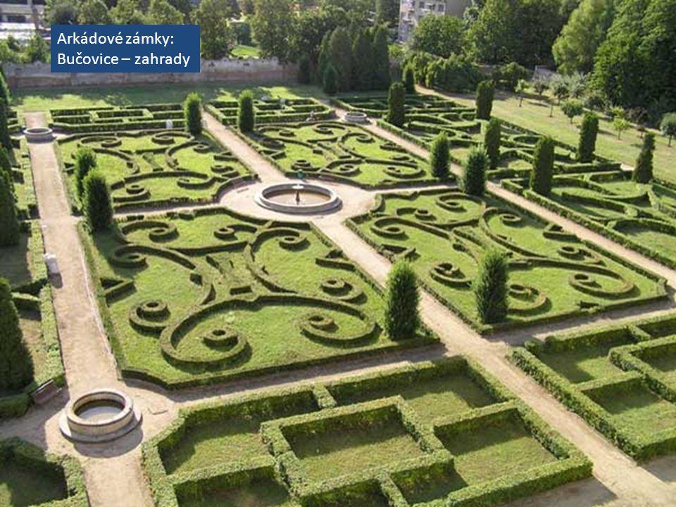 Arkádové zámky: Bučovice – zahrady