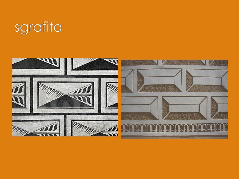 Trámový malovaný nebo kazetový strop Nový prvek – kamna (obsluha z chodby) Klenby s ostrými hřebínky Figurální výjevy ze štuku