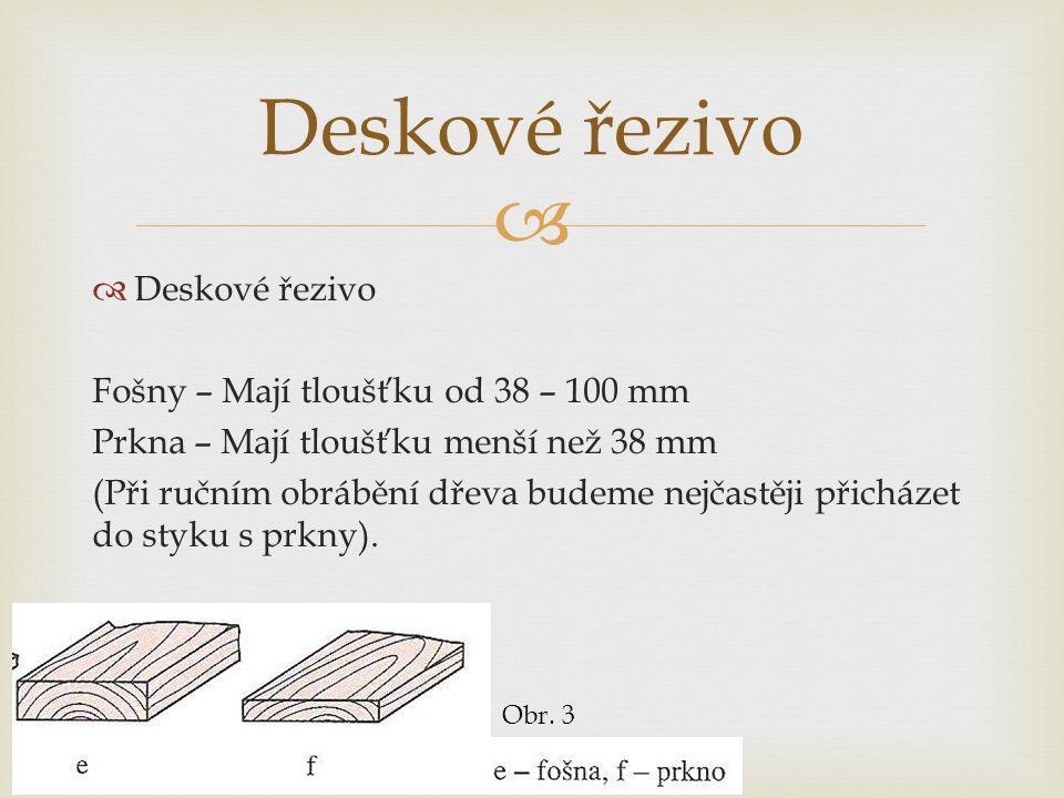  Označování částí prkna Obr. 4
