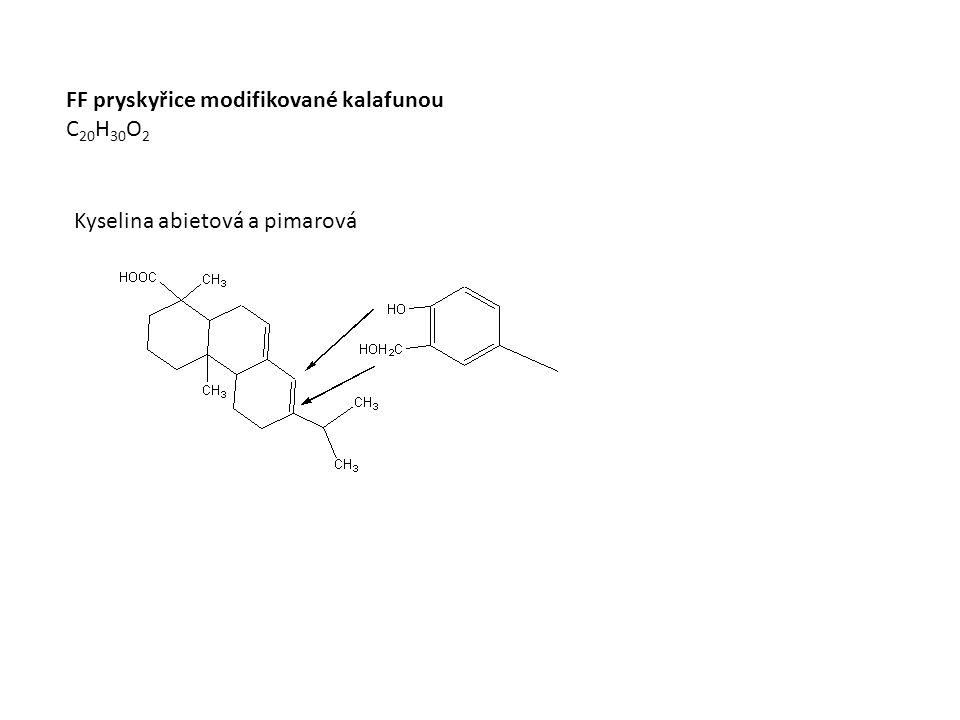 FF pryskyřice modifikované kalafunou C 20 H 30 O 2 Kyselina abietová a pimarová