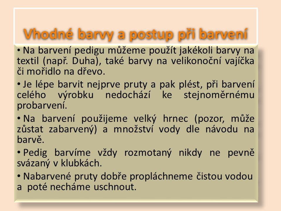 Použitá literatura MARKOVÁ, Gabriela.Pleteme košíčky z pediku, proutí a mořské trávy.