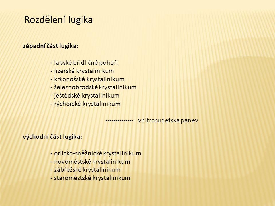 Charakteristické rysy lugika  Proterozoické a sp.