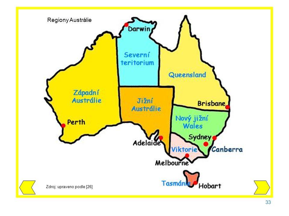 33 Zdroj: upraveno podle [26] Regiony Austrálie