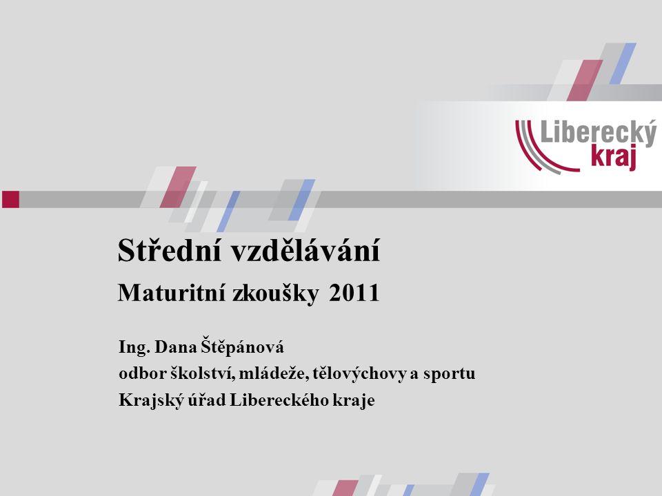 Střední vzdělávání Maturitní zkoušky 2011 Ing.