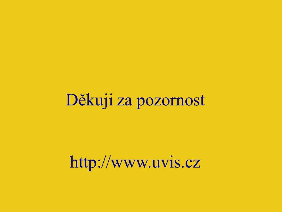 Děkuji za pozornost http://www.uvis.cz