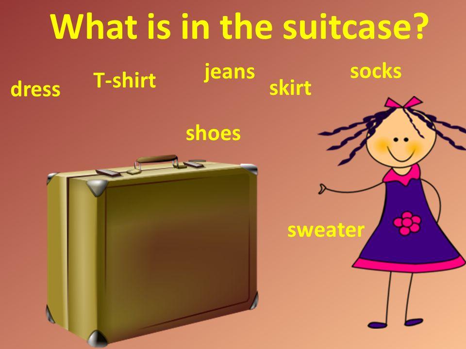 What is in my box? T-shirt trousers sweatshirt jacket shoes cap socks