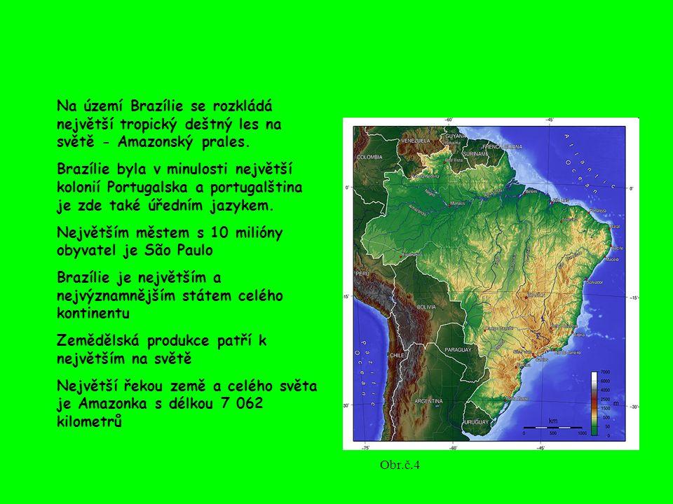 Na území Brazílie se rozkládá největší tropický deštný les na světě - Amazonský prales. Brazílie byla v minulosti největší kolonií Portugalska a portu
