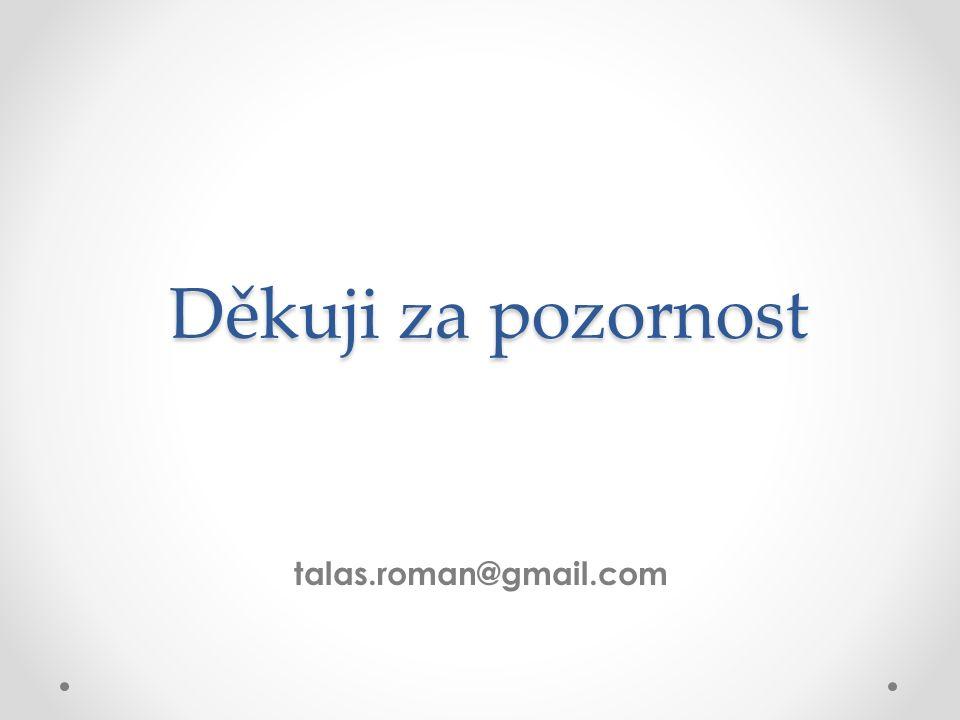 Děkuji za pozornost talas.roman@gmail.com