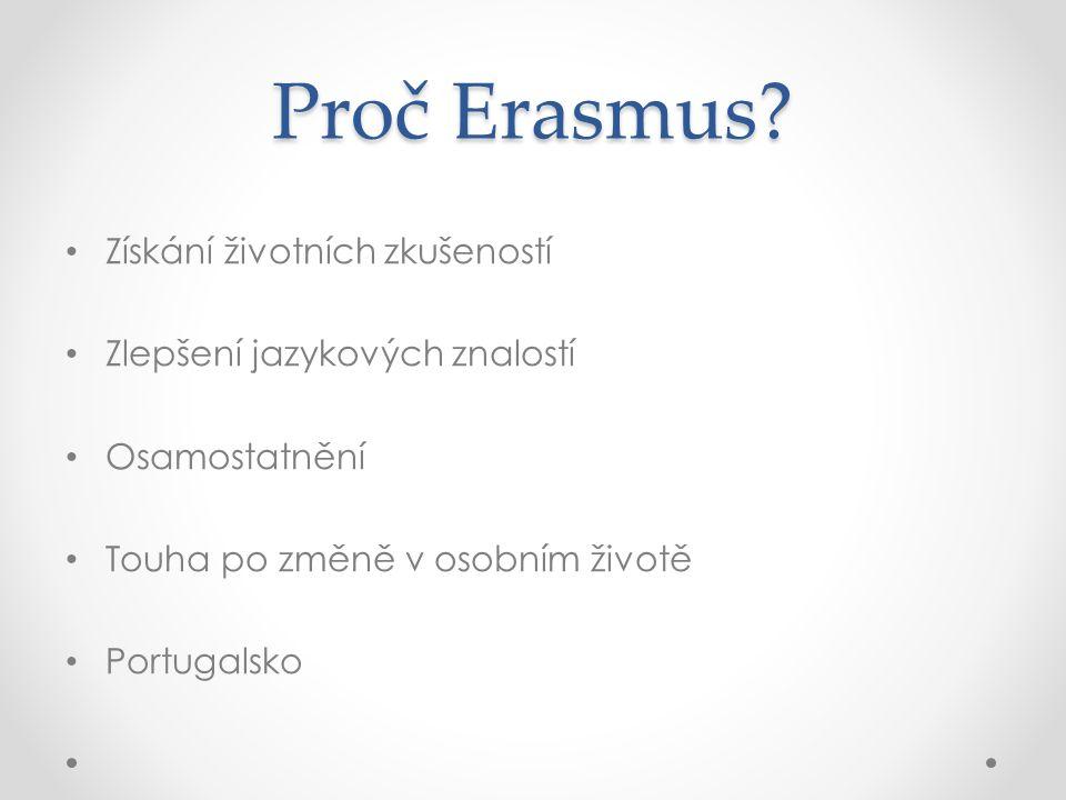 Proč Erasmus.