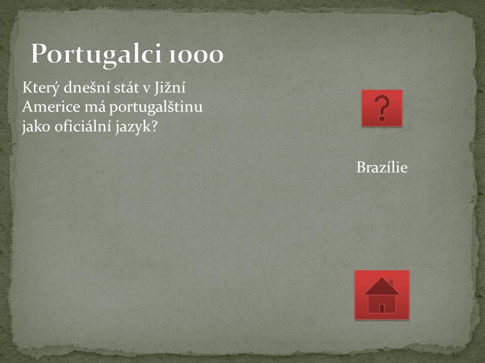 Který dnešní stát v Jižní Americe má portugalštinu jako oficiální jazyk Brazílie