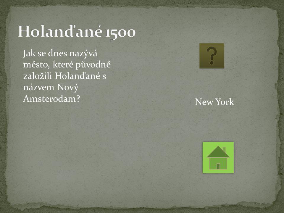 Jak se dnes nazývá město, které původně založili Holanďané s názvem Nový Amsterodam New York