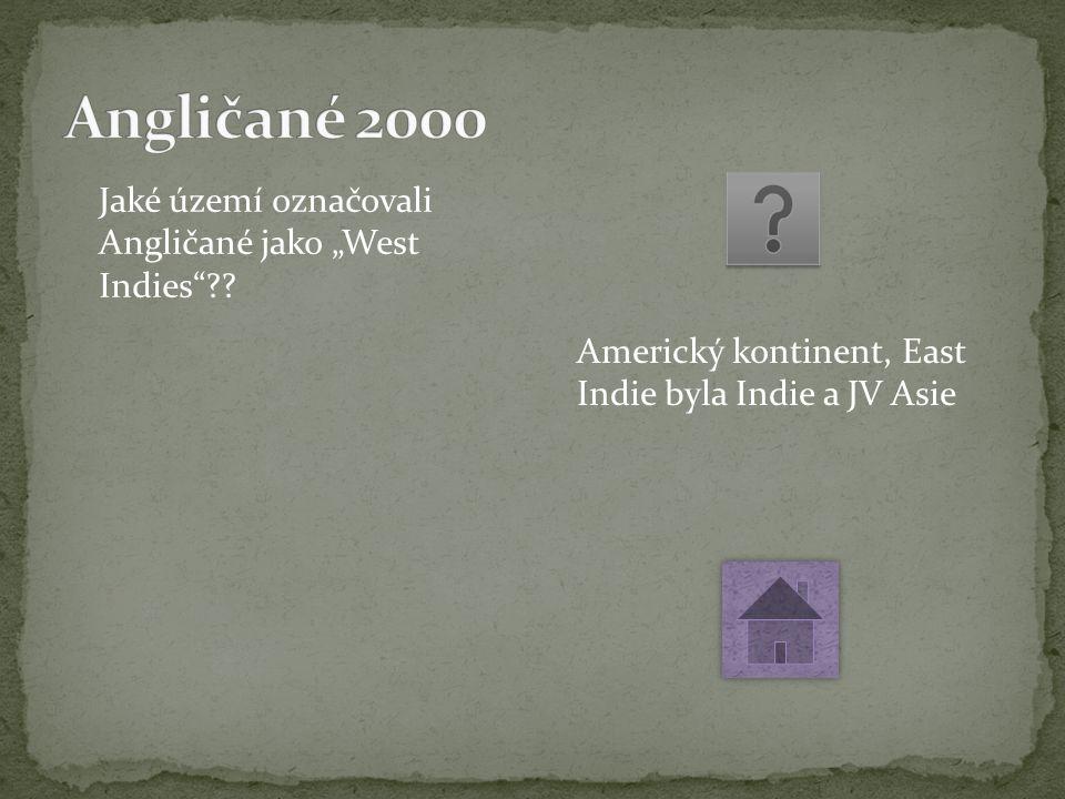 """Jaké území označovali Angličané jako """"West Indies ."""