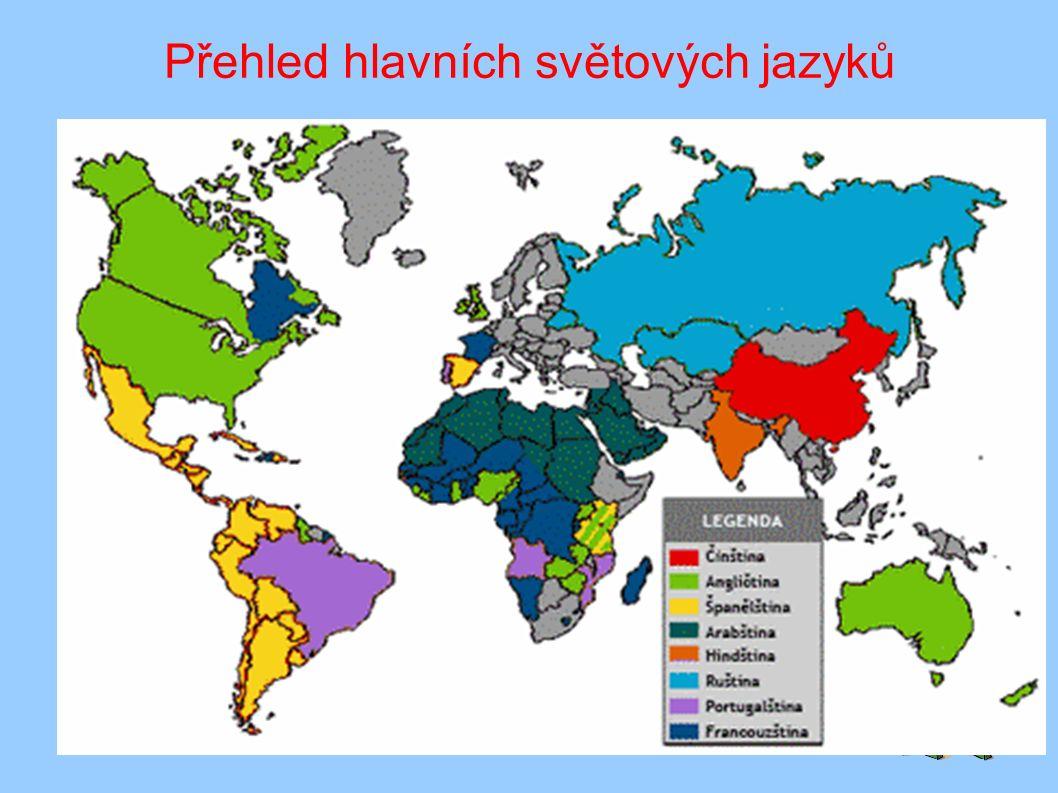 Přehled hlavních světových jazyků