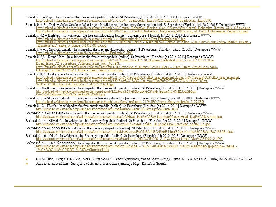 Citace Snímek č.1 – Mapa - In wikipedia: the free encyklopeddia [online].