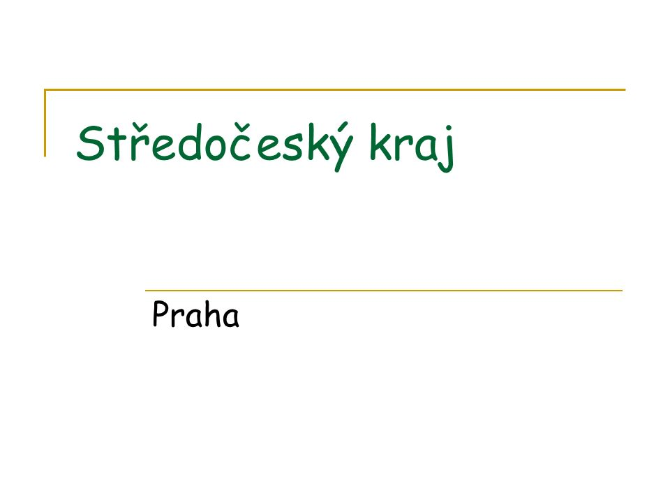 Středočeský kraj Praha