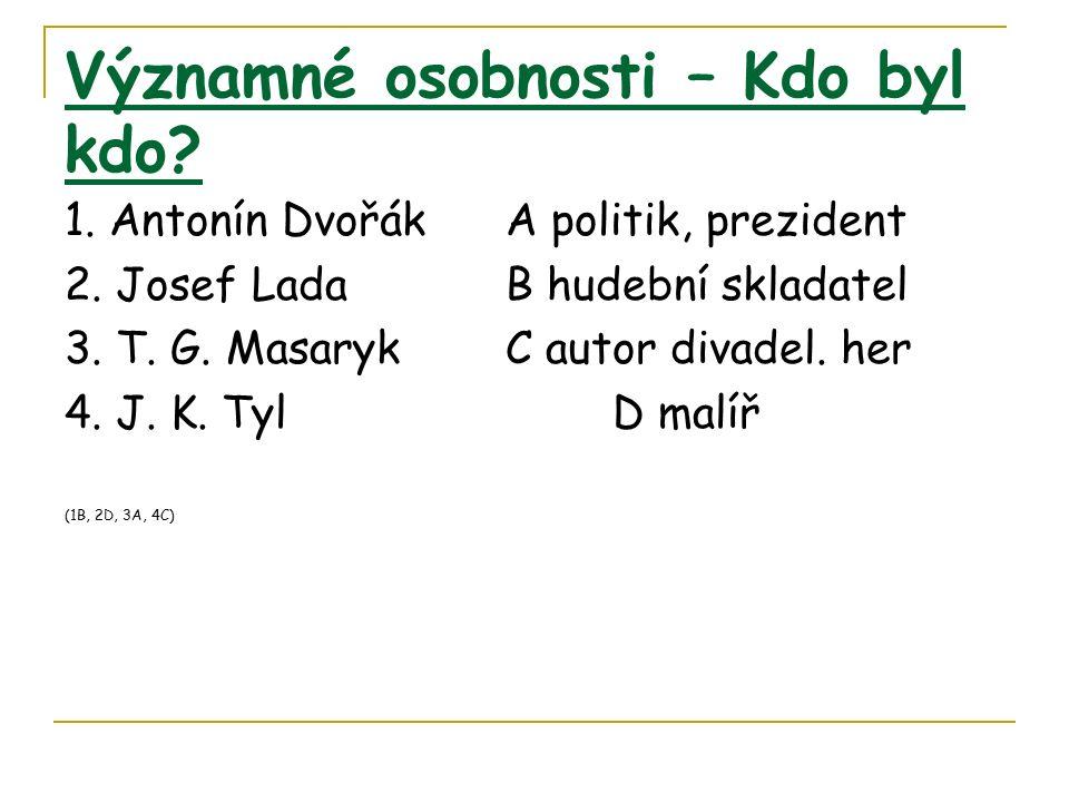 Významné osobnosti – Kdo byl kdo.1. Antonín Dvořák A politik, prezident 2.