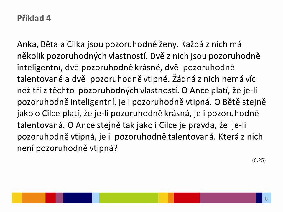 Příklad 4 Anka, Běta a Cilka jsou pozoruhodné ženy.
