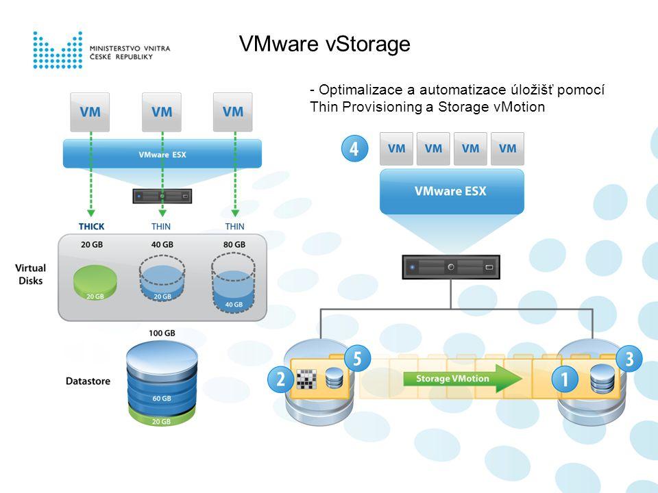 VMware vStorage - Optimalizace a automatizace úložišť pomocí Thin Provisioning a Storage vMotion
