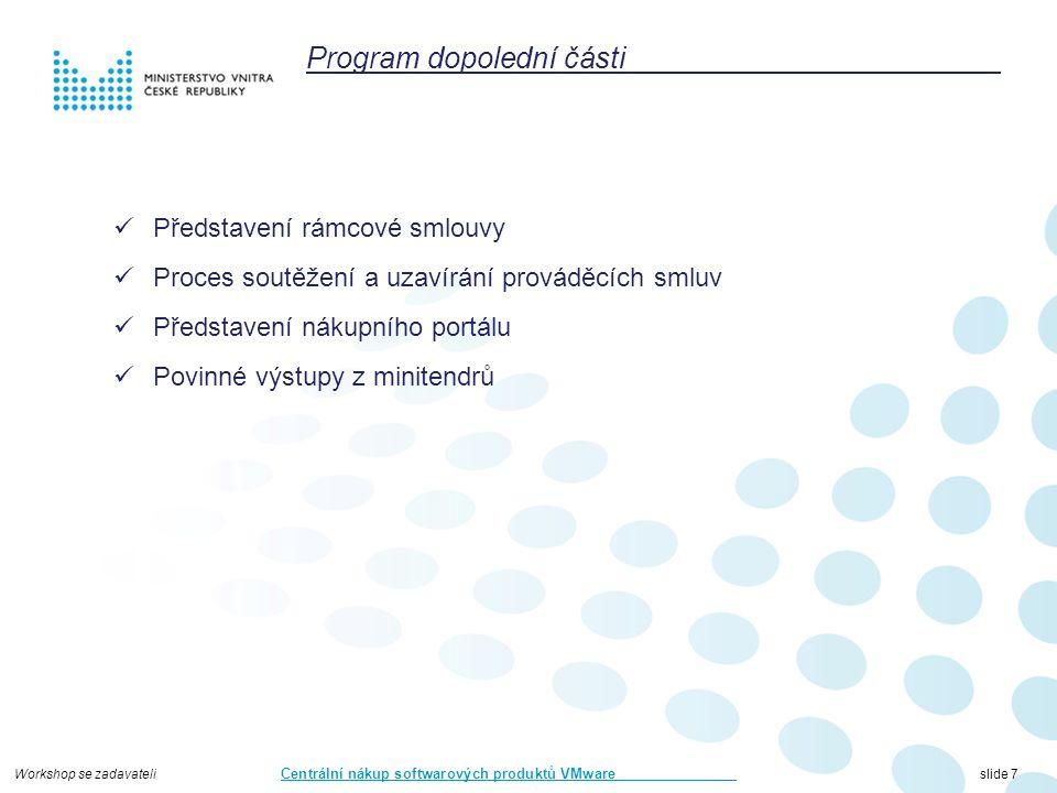 Workshop se zadavateli Centrální nákup softwarových produktů VMware slide 48 CONFIDENTIAL48 virtualizace storagenet automatizace operations business jiné virtualizacefyzické servery