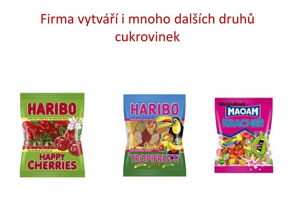 Firma vytváří i mnoho dalších druhů cukrovinek