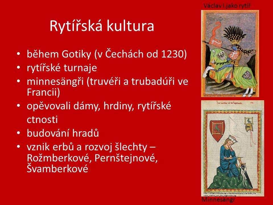 Přemysl Otakar II., Václav II., Václav III.