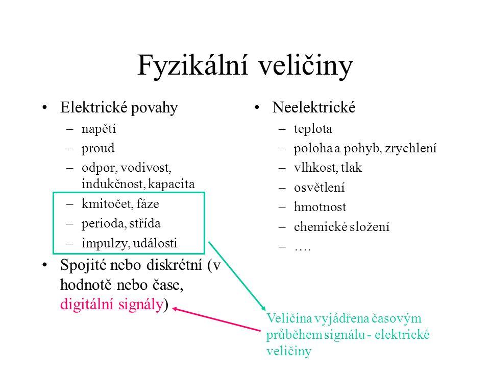 RTD - odporové teploměry (např.Pt) Malý odpor, typ.